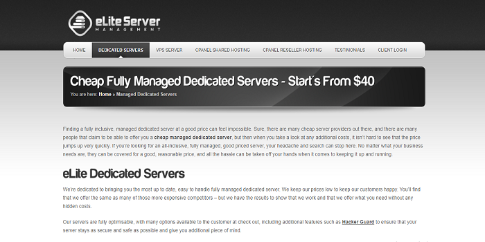 SSD managed dedicated servers