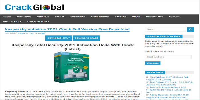 Kaspersky antivirus serial keys